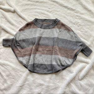 EUC LOFT Wool Blend Dolman Poncho Sweater